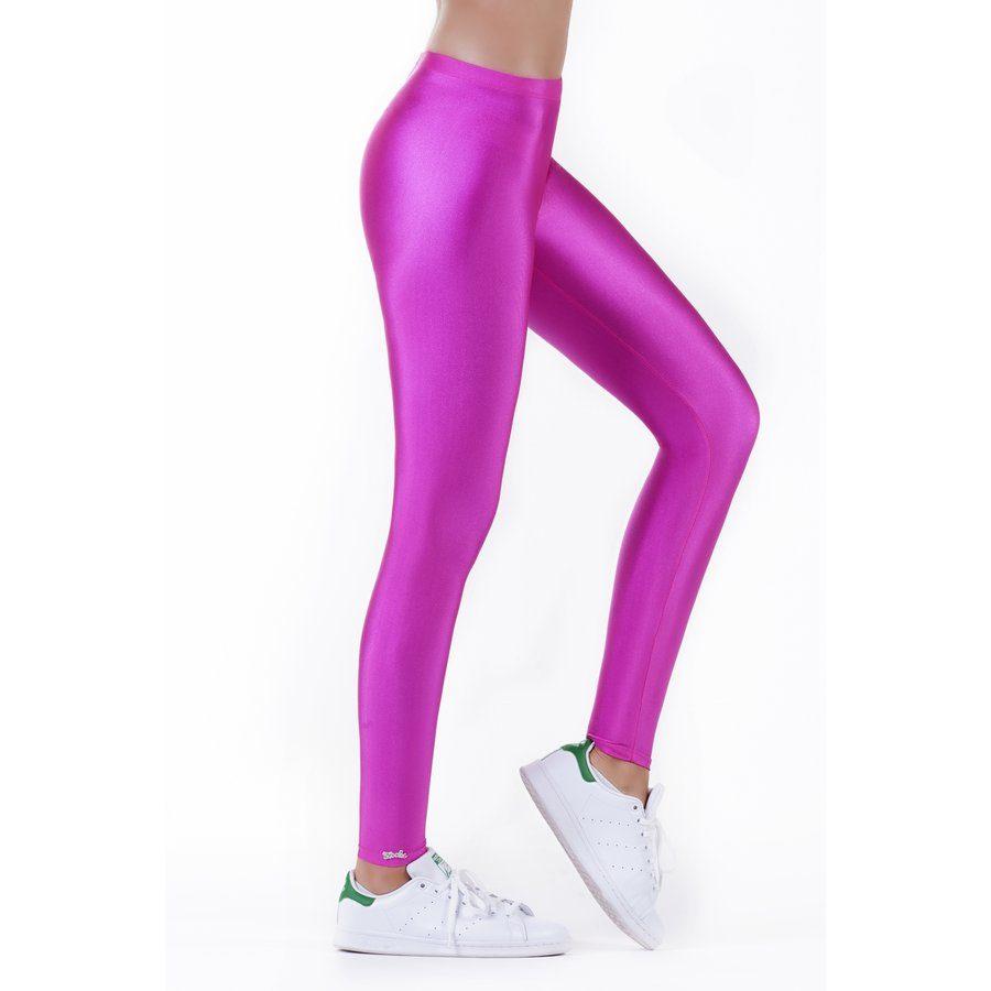 Magenta shiny leggings