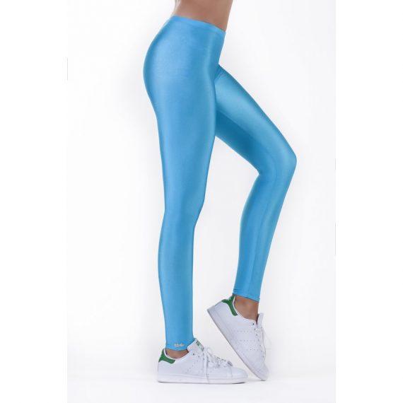 Turquoise shiny leggings